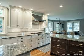 white shaker kitchen cabinets wood floors boston dover transitional kitchen design center