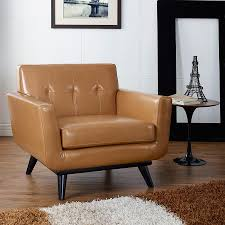 Leather Mid Century Chair Acceptable Tan Leather Chair For Your Mid Century Modern Chair