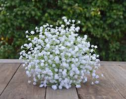 silk baby s breath silk bouquet white gypsophila baby s breath bouquet wedding