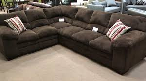 Colored Sectional Sofas by Simmons 8043 Chocolate Brown Ultra Plush Soft Seating Sectional