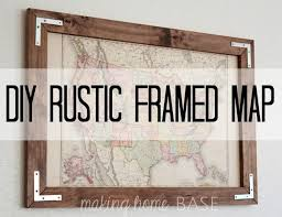 Photo Frame Ideas Best 25 Map Frame Ideas On Pinterest Map Art Map Crafts And