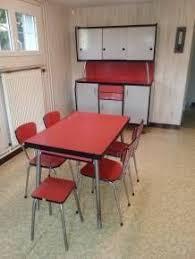 set de cuisine retro cuisine vintage jaune formica vintage table mid