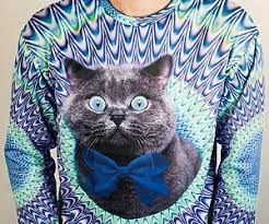 cat sweater psychedelic cat sweater