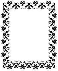 clip art borders z31 coloring page
