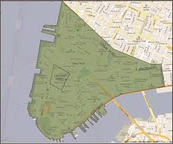 New York City Area Map september 11th victim compensation fund nyc map of exposure zone