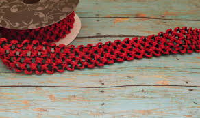 crochet elastic ribbon and black elastic waffle crochet ribbon 2 yards x 1 5 inches