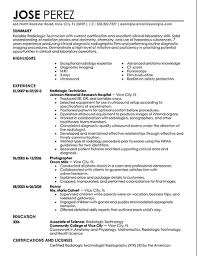 Example Medical Resume by X Ray Technologist Resume Sample Xpertresumes Com