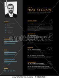 Resume Template Design Vector Minimalist Cv Resume Template Nice Stock Vector 528972799