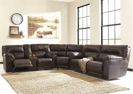 elegant leather sectional sofa with recliner awesome sofa