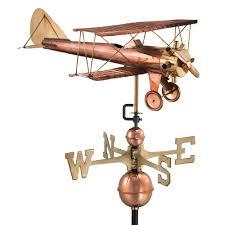 Mermaid Weathervanes Good Directions Biplane Weathervane Pure Copper 9521p The Home