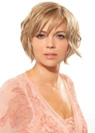 Short Layered Wavy Bob Women Medium Haircut