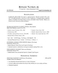 sample resume for college sample cool ideas resume template