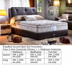 Vono Bed Frame Vono Promotion Mattress Ergobed Accent Size Rm1699 Klang