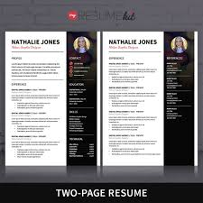 Two Page Resume Template Resume Template For Word Theme
