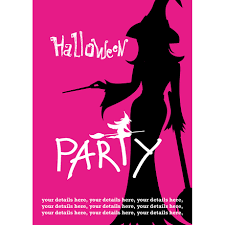 silhouette witch halloween party invite buzz invites