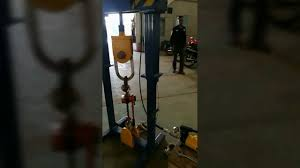 portable load test on manual chain block youtube