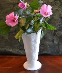 Milk Glass Vase Anchor Milk Glass Vase Grape Pattern U2013 I Cant Believe I Found It