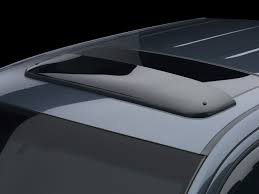range rover sunroof open wind deflector sunroof and moonroof wind deflector weathertech com