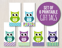 printable gift tags owl hang tags owl gift tags owl