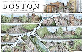 North End Boston Map by Famous Marathon Maps Are Given A Creative Twist Marathons