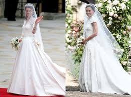 kate middleton wedding dress pippa middleton s wedding vs kate middleton s wedding breaking