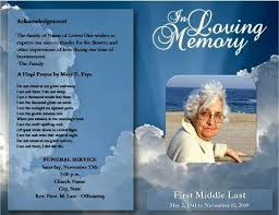 funeral program ideas free memorial templates free funeral brochure templates online