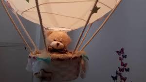 air balloon ceiling light air balloon l light shade silver teddy bear homemade design