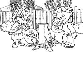 may sid and magnifying glasses coloring pages for kids printable