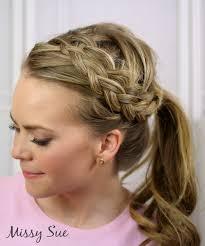 headband ponytail braid 19 woven headband braid
