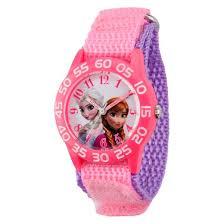 kid u0027s disney frozen anna elsa plastic watch pink target