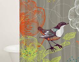 Tweety Bird Shower Curtain Bird Curtains Etsy