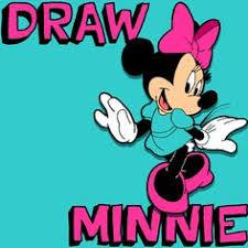 step minnie7 draw minnie mouse simple step step