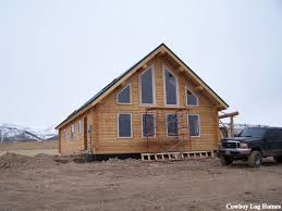 A Frame Style Homes by Big Timber Plan 1 880 Sq Ft Cowboy Log Homes