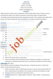 Job Resume For Kroger by Resume For Veterans Service Representative Virtren Com