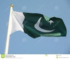Oakistan Flag Pakistan Flag Stock Photo Image Of Streamer Banner Pole 3933912