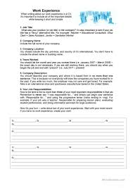 esl resume writing 10 free esl resume worksheets work experience for a cv resume