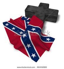 christian cross flag confederate states america stock illustration