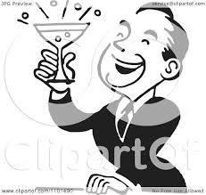 images retro cocktail party clipart
