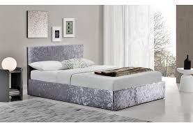 4ft bed birlea berlin 4ft small double fabric ottoman bed crushed velvet