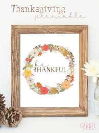 free thanksgiving printable wall carrie