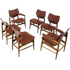 Mid Century Modern Furniture Six Mid Century Modern Danish Dining Chairs By Thonet At 1stdibs