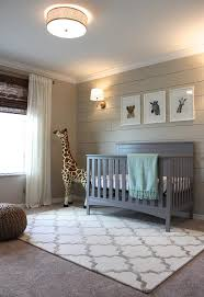 Nursery Area Rugs Beige And Gray Boy Nursery With Beige Shiplap Accent Wall