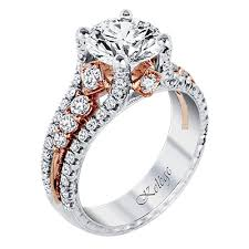 girl wedding rings images Engagement rings for the glamour girl with hints of rose gold jpg