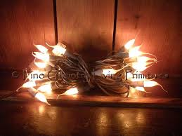 primitive silicone tipped string lights on brown cord 50 count