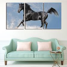Horse Decorations For Home by Popular Black Horse Painting Buy Cheap Black Horse Painting Lots