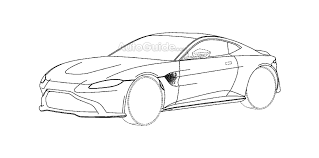 pagani drawing aston martin vantage patent diagrams discovered