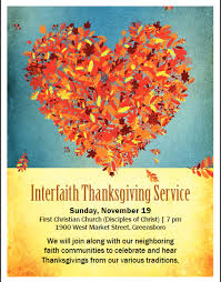 interfaith community thanksgiving service christian church