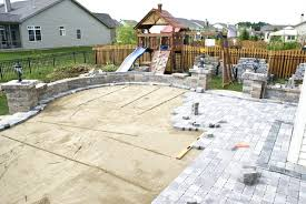 Cost Of Brick Paver Patio Patio Ideas Outdoor Stone Patio Grout Paver Patio With Firepit