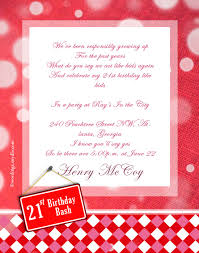 21st birthday party invitation wording wordings and messages
