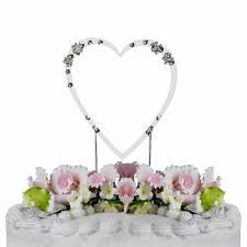 flower swarovski crystal wedding cake topper single small